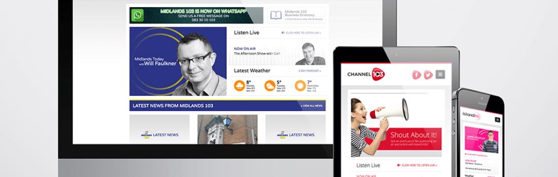 A three part digital broadcast
